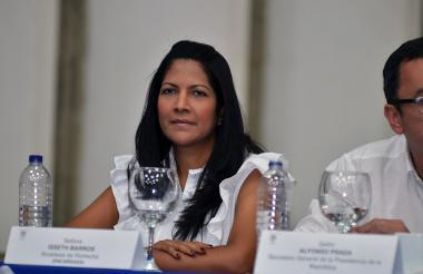 Isseth Tatiana Barros, alcaldesa (e) de Riohacha.