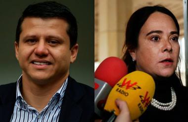 Bernardo 'Ñoño' Elías y su abogada Silvia Rugeles.