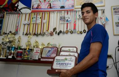 El pasado 21 de agosto el ciclista barranquillero Nelson Soto atendió a EL HERALDO en su casa.