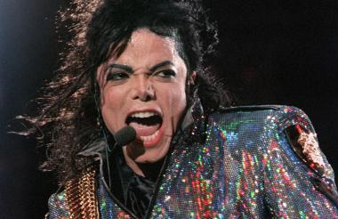Michael Jackson durante la primera fecha de su gira 'Dangerous' en el Wembley Stadium de Londres, el 30 de julio de 1992.