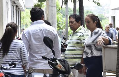 Los capturados ingresan al Centro de Servicios Judiciales de Cartagena.