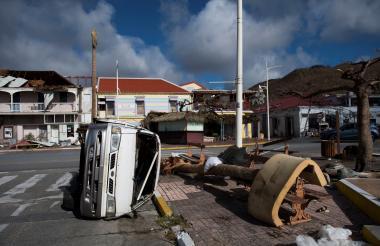 La Isla de San Martín fue una de las más duramente golpeadas por Irma.