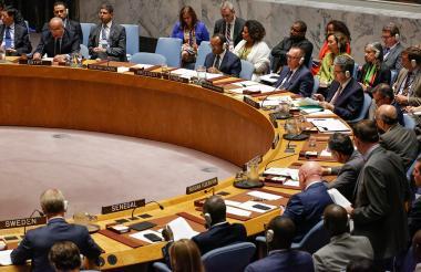 Vista de la reunión del Consejo de Seguridad.