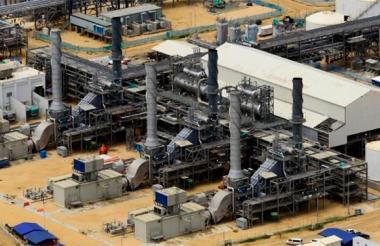 Panorámica de la refinería de Cartagena, Reficar.