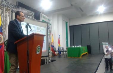 Adolfo Ramírez, asesor de la secretaría general de la Policía Nacional, quien estuvo hoy en Montería.