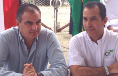 Aurelio Iragorri, Minagricultura y Luis Humberto Martínez, gerente ICA.