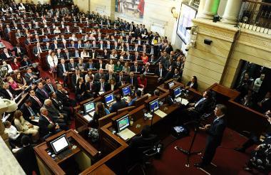 Instalación del último periodo legislativo del actual Congreso de la República presidido por el jefe de Estado, Juan Manuel Santos.