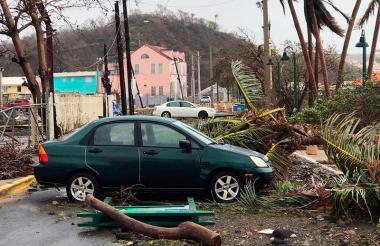 Así quedó parte de Puerto Rico.