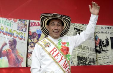 Germán Álvarez Guzmán, rey Momo 2017.