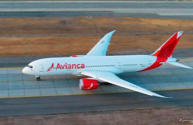 Avión de Avianca. Imagen de referencia.