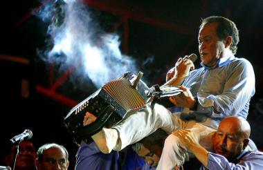 Alfredo Gutiérrez, homenajeado en el Festival Cuna de Acordeones.