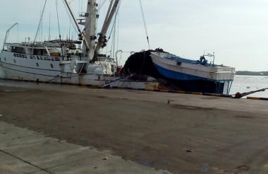 Embarcación donde ocurrió el incidente el sábado.