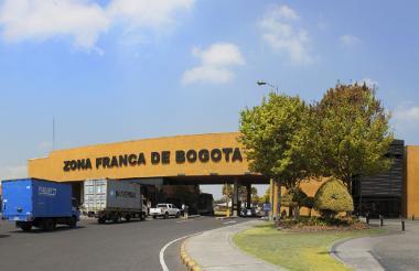 Fachada de las instalaciones de la Zona Franca de Bogotá.