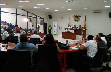 Última sesión del Concejo de Barranquilla.