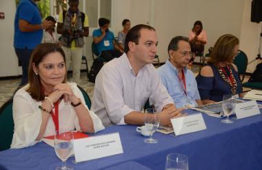 """El superintendente este martes durante el 'Plan de Choque Caribe"""", organizado por EL HERALDO."""