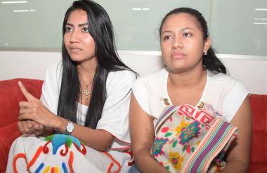 Alison Fajardo y Yuranis Badillo Almazo,en su visita a EL HERALDO.