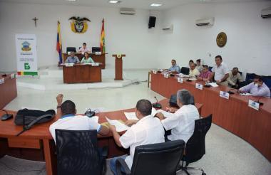 Aspecto de la sesión realizada el pasado lunes en el Concejo de Barranquilla.