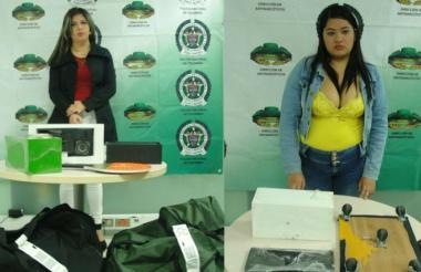 Karen Lorena Bermúdez y Angie Tatiana Mendoza, capturadas en el Cortissoz.