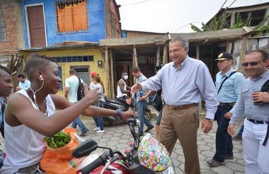 Óscar Naranjo visita Tumaco, Nariño.
