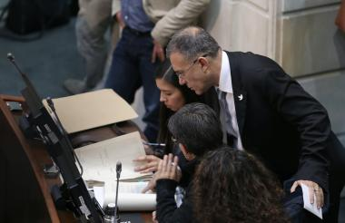Votación de la Jurisdicción especial para la paz (Jep) en el Congreso de la República.