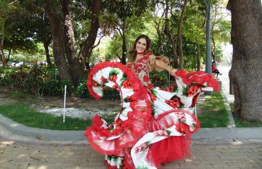 Valeria Abuchaibe, reina del Carnaval 2018.