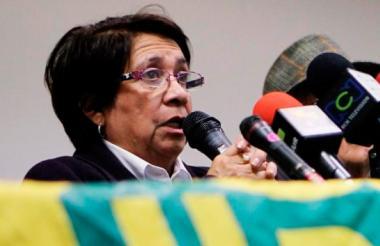 Aida Avella, presidenta de la Unión Patriótica.