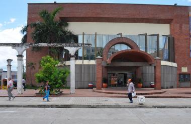 Fachada del Teatro Municipal, en el Centro de Sincelejo.