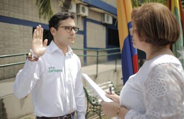 Sergio Londoño Zurek, alcalde Mayor de Cartagena de Indias.