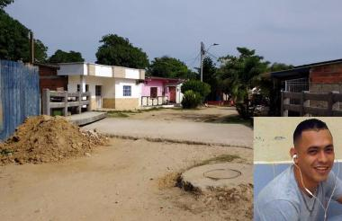 En esta calle del barrio Santo Domingo cayó muerto Aris Collazos, alias Aris.