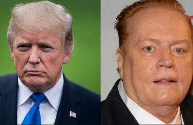 Donald Trump, presidente de Estados Unidos, y Larry Fllynt, presidente de la revista Hustler.