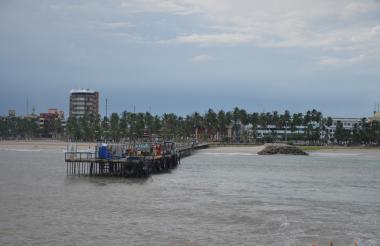 Vista del muelle turístico de Riohacha, La Guajira.