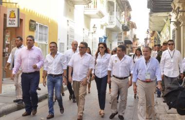 Los gobernadores de la Costa, en un reciente encuentro en Cartagena.