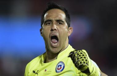 Claudio Bravo, arquero de la Selección de Chile.