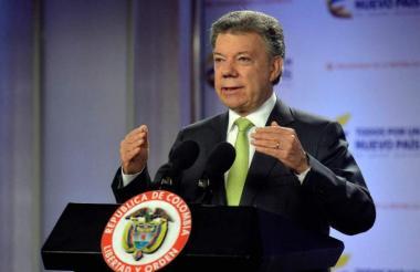 En un acto público en la ciudad de Popayán, Santos informó sobre el encuentro.