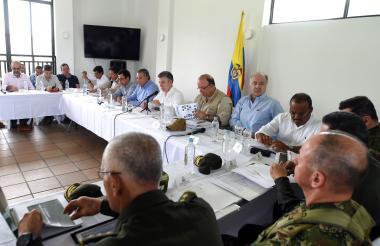 El mandatario encabezó un consejo de seguridad en Tumaco.