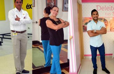 Gustavo Paternina, Judith Rincón y José Amaya, exdeportistas y hoy emprendedores.
