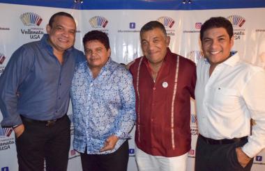 'Ñeko' Montegro, Álvaro López, Ivo Díaz y Jorge Socarrás en el Festival Internacional de Acordeones.