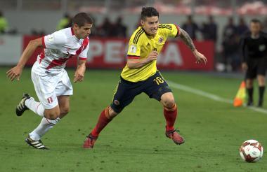 Acción del juego del pasado 10 de octubre en el estadio Nacional de Lima.