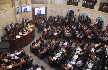 Aspecto general de una sesión del Senado de la República.