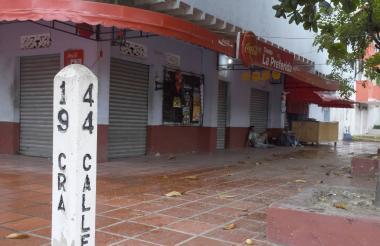 Esta tienda en la carrera 19 con calle 44 estuvo cerrada por la marcha.