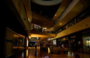 Centro comercial Viva, uno de los afectados por la falla de energía.