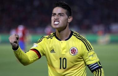 James Rodríguez, volante ofensivo de la Selección Colombia.