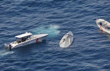 El sumergible fue visto en la costa del Pacífico.