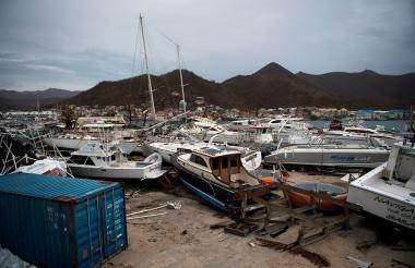 Así quedó Irma tras el paso del huracán Irma.