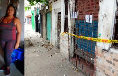 Lugar dónde fue asesinada Ruby Maria Fragoso Toro, a la izquierda.