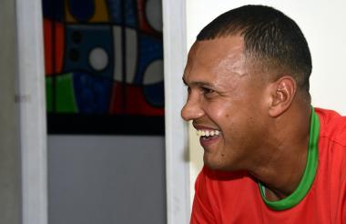 Roberto Peñaloza es feliz con el buen momento que vive el Barranquilla FC.