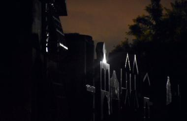 Aspecto del cementerio municipal de Soledad, donde se llevó a cabo el operativo.