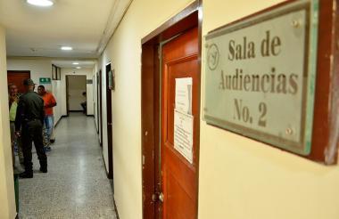 En esta sala se realizaría la audiencia del caso Martín Elías.