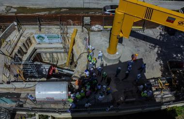 La tuneladora lleva una semana trabajando en la canalización de la calle 91.