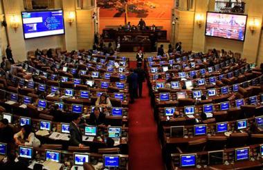 Aspecto de una plenaria de la Cámara de Representantes, en el Capitolio.